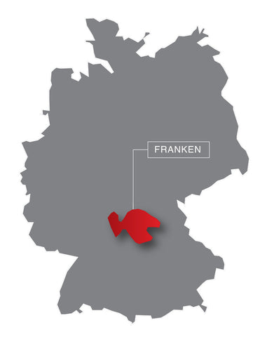 Franken, wine region, germany, map