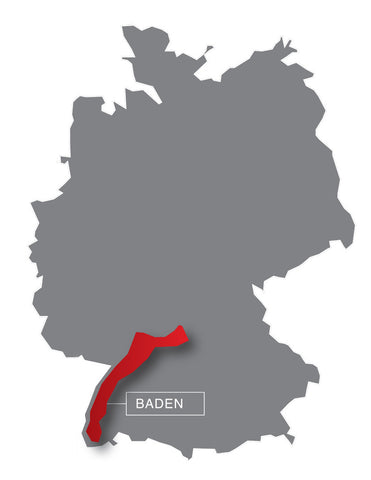 Germany, map, Baden, wine region