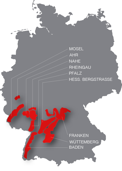 map of Germany wine regions