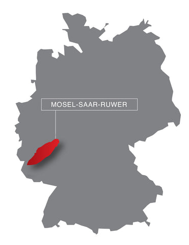 Wine region mosel germany map