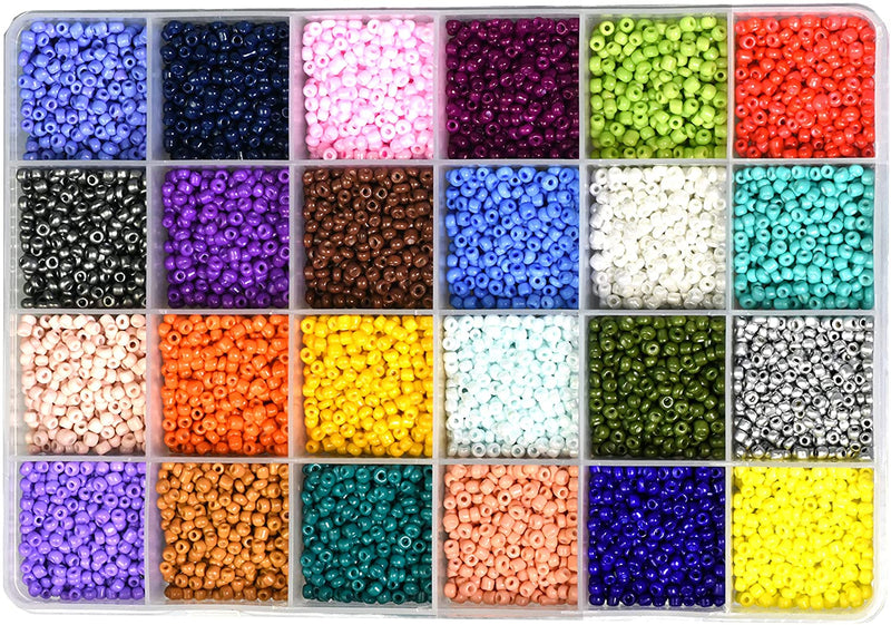 Small Pony Beads Assorted Kit with Organizer Box for Jewelry Making Crafting Beading Twisted Bulge 2 X 6 MM, 15 Assorted Multicolor Set Combo 1 Mandala Crafts Glass Seed Beads