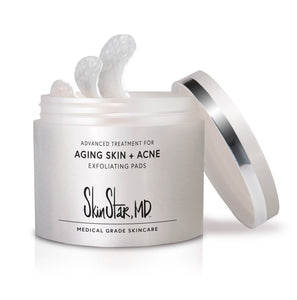 SkinStar, MD Exfoliating Pads for Aging Skin + Acne