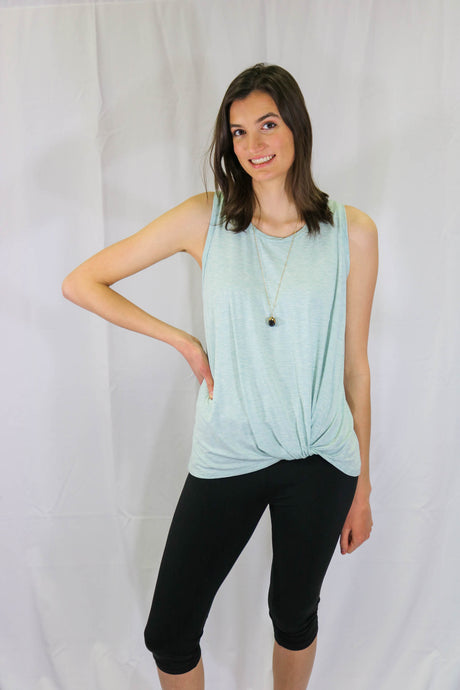 Emma's Closet Modal Tie-Knot Front- Racerback Tank Top