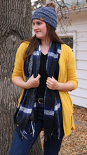 Winter Scarf Plaid With Tassles