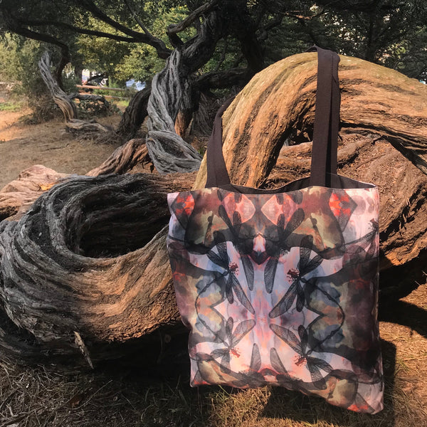 MIDNIGHT DRAGONFLY TOTE