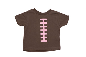 Football Brown & Pink Snap Tee