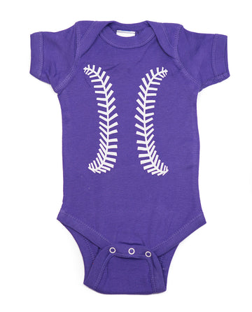 Baseball Purple & White Outfit