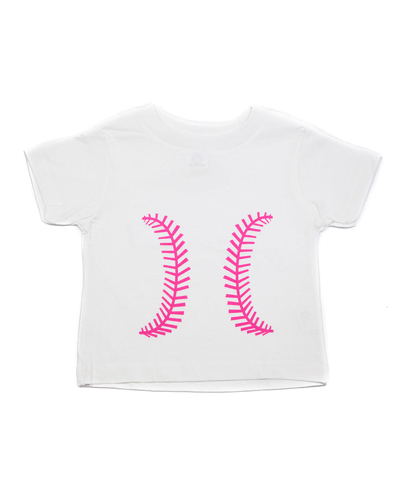Baseball White & Pink Shirt