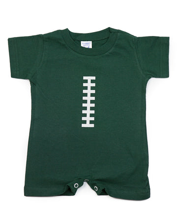 Football Hunter Green & White Romper