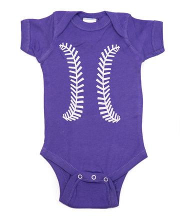 Baseball Purple & White Shirt by Bambino Sport