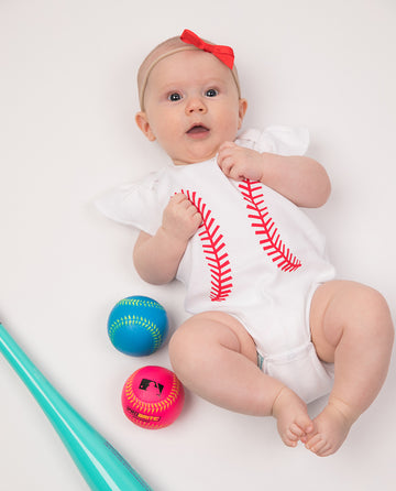 Baseball Ruffle Sleeve Outfit (PRE-ORDER) by Bambino Sport