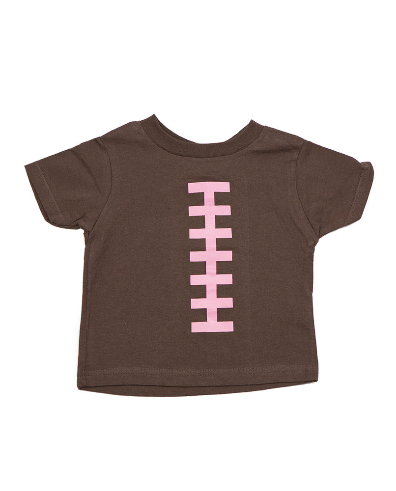 Football Pink Laces Shirt by Bambino Sport