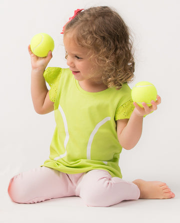 Tennis Eyelet Sleeve Shirt (PRE-ORDER) by Bambino Sport