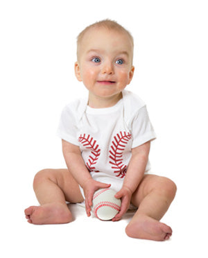Bambino Balls Short Sleeve Baseball Outfit. Newborn. White and Red - bambino sport