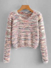 Marled Fluffy Pullover