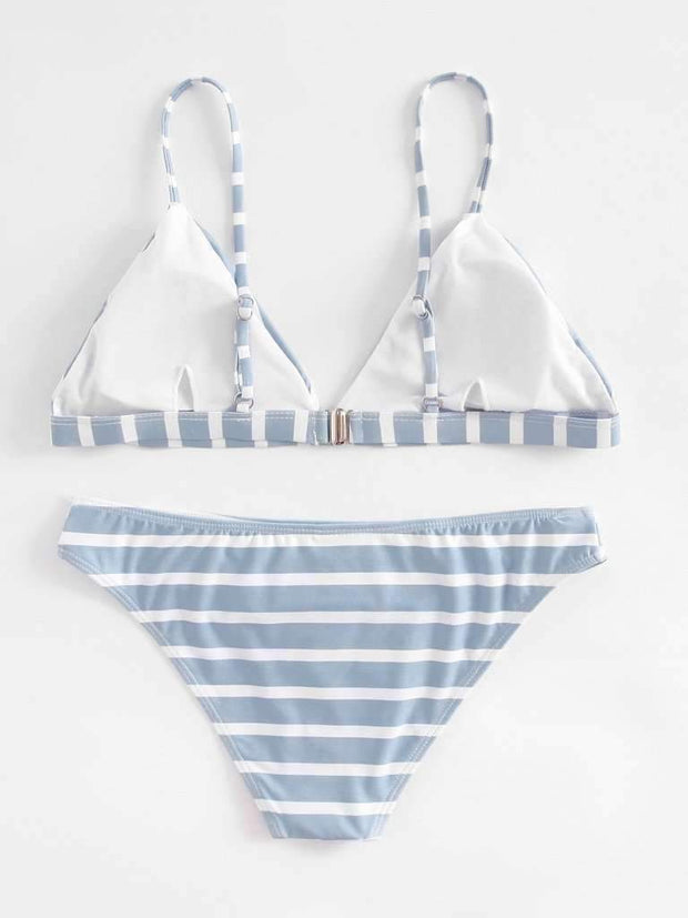 Striped Triangle Bikini