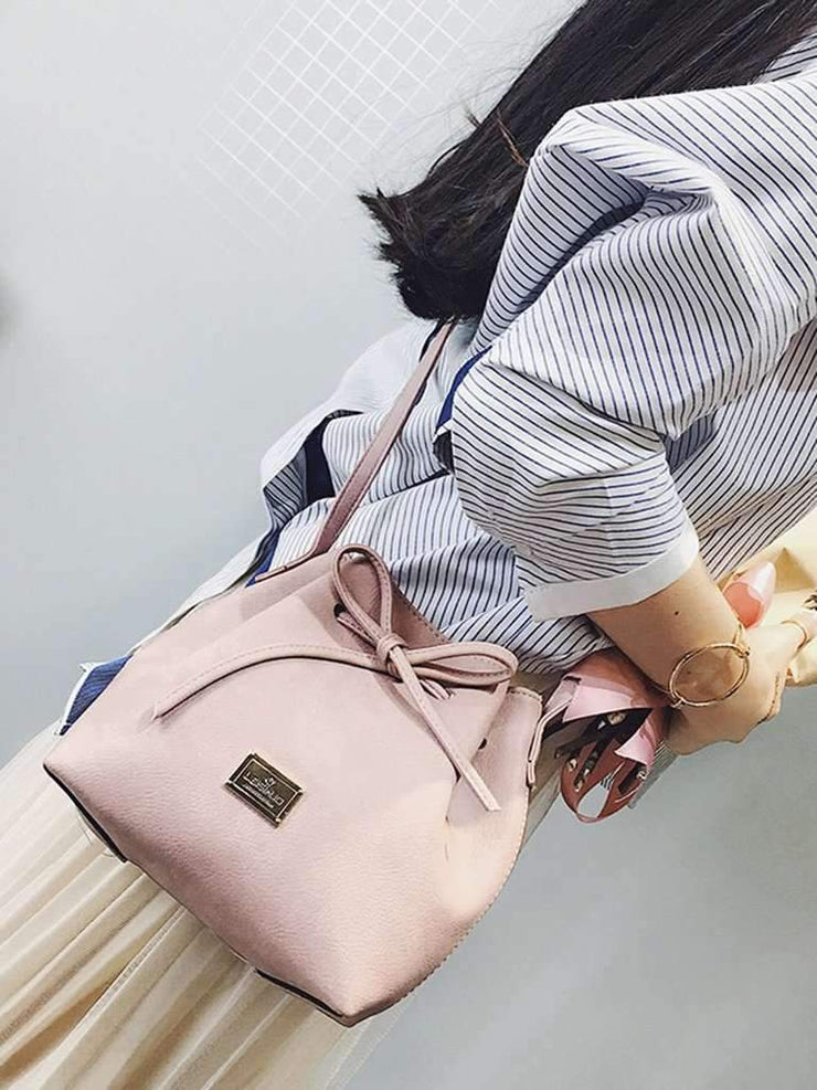 Drawstring Tie Bucket Bag