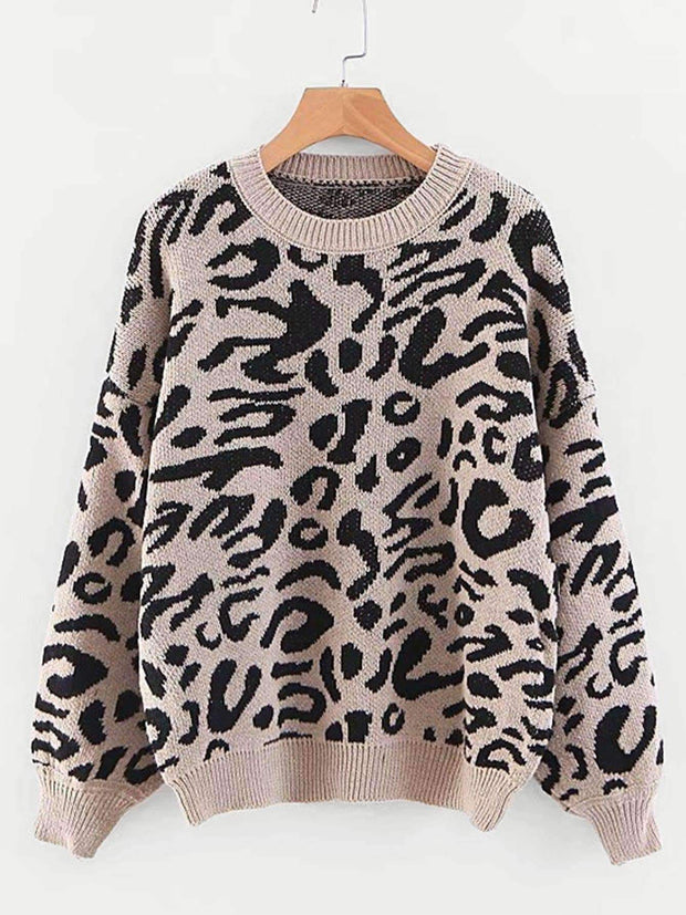 Leopard Print Pullover