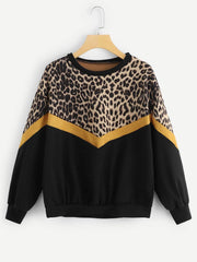 Leopard Drop Shoulder Sweater