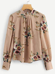 Puff Sleeves Floral Blouse