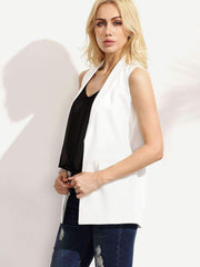 Sleeveless Open Front Blazer