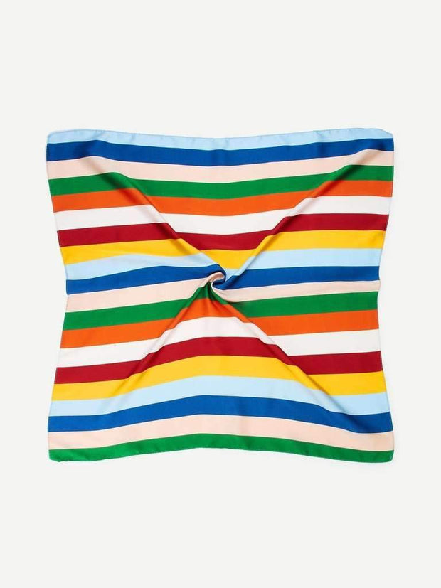 Colorblock Striped Bandana