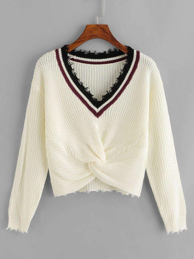 Twist Hem Sweater