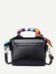 Twilly Scarf Push Lock Shoulder Bag