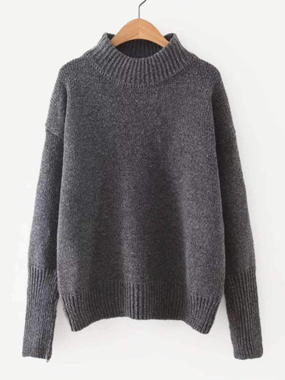 Crew Neck Drop Shoulder Pullover