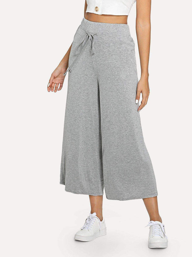Wide Leg Drawstring Pants