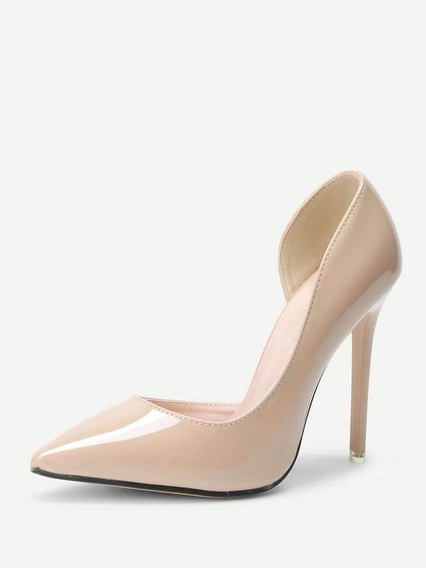 Pointed Toe PU Pumps