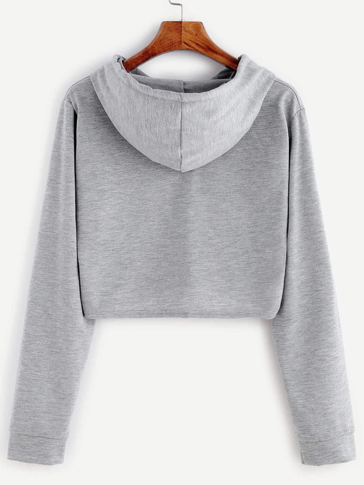 Hooded Crop Sweater