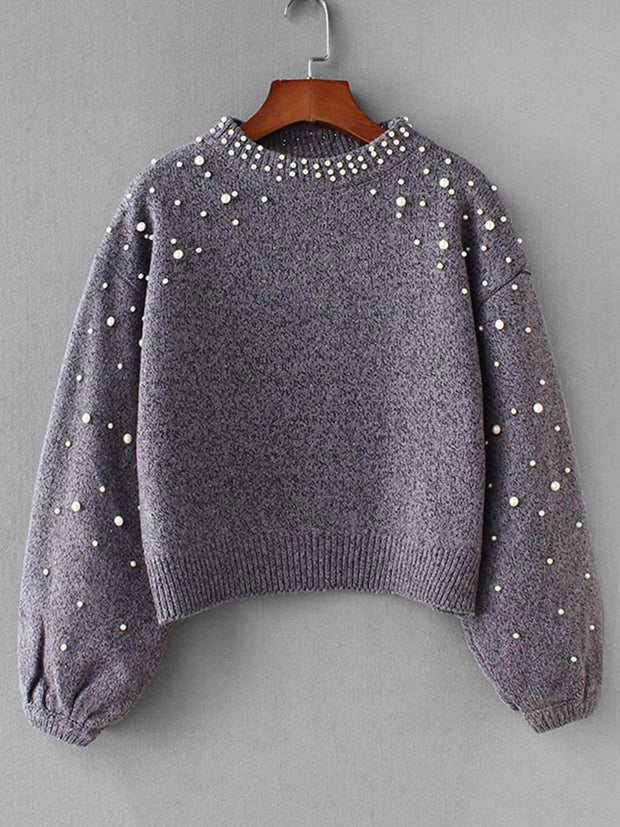 Pearl Embroidered Sweater