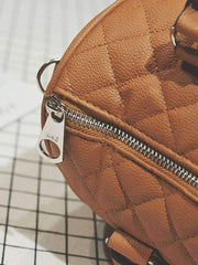 Quilted Zipper Shoulder Bag