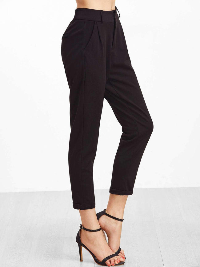 Cuffed Tapered Pants