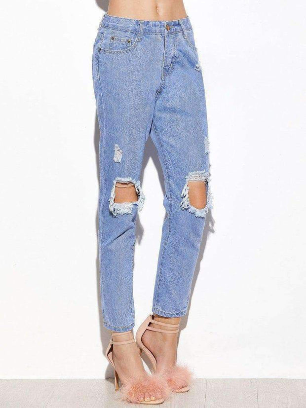 Light Ripped Knees Jeans