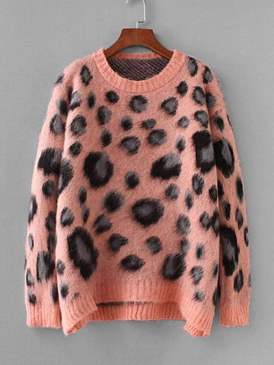 Leopard Print Mohair Pullover