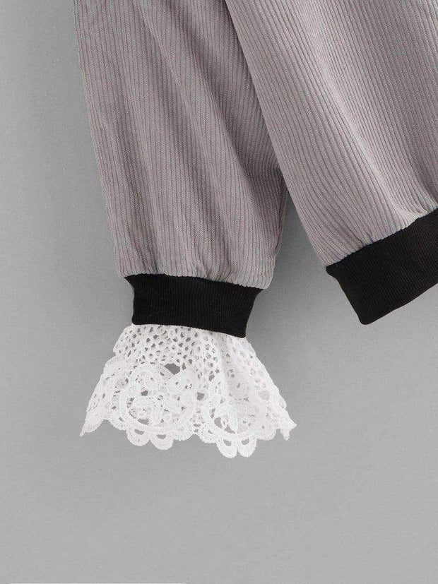 Lace Details Sweater