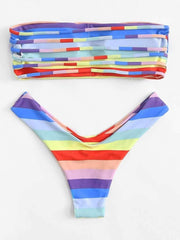 Ladder Cut Out Ombre Bikini