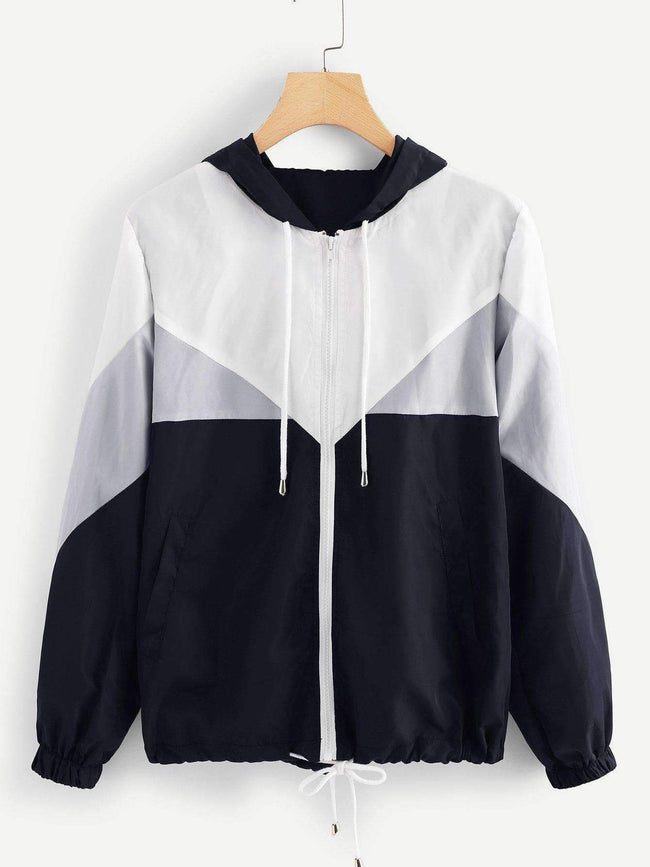 Colorblock Hooded Jacket