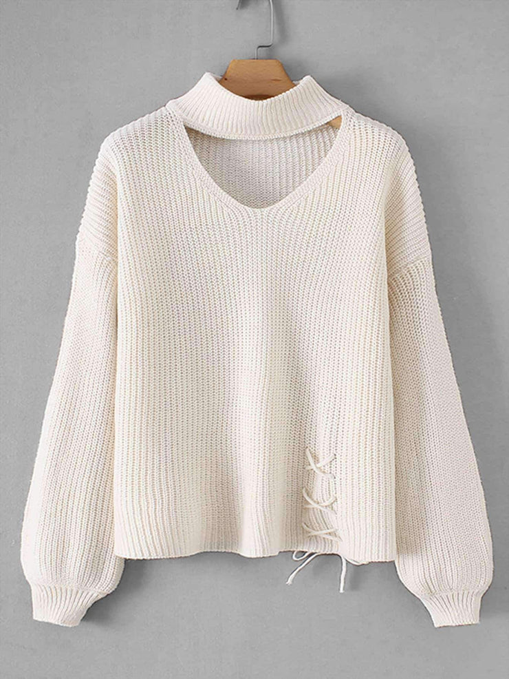 Lace-Up Jumper