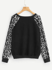 Sequins Leopard Print Sweater
