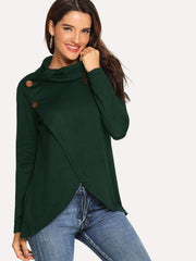 Button Decorated Pullover