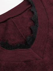 Eyelash Lace Knit Sweater