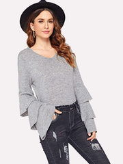 Layered Sleeve Sweater