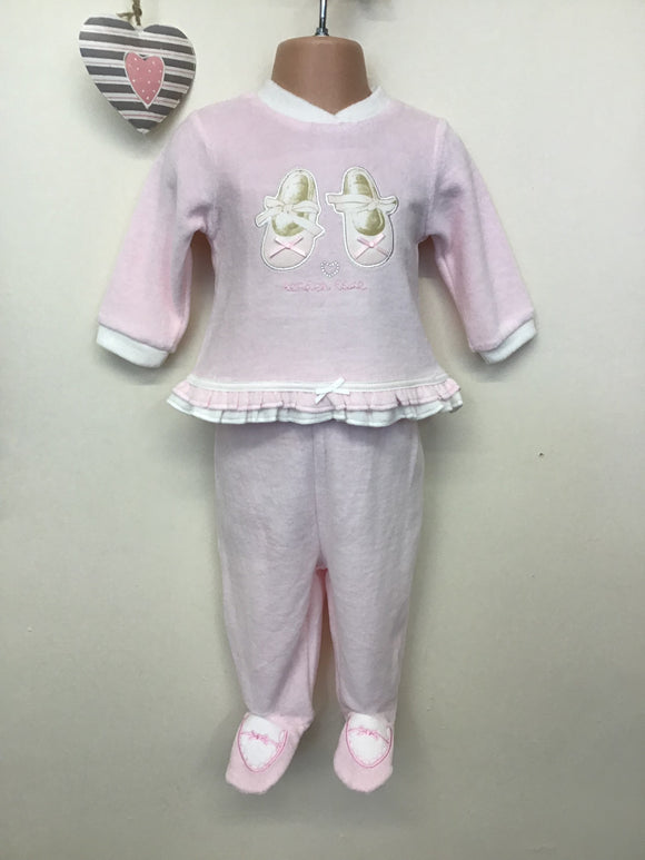 Baby Girls Velour 2 Piece Ballerina Outfit (NB-6 months)