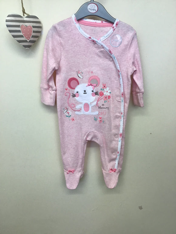 Pack of 2  Baby Girls All in One Sleepsuits (upto 1 month-9 month)