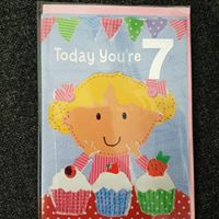 Girls Number Birthday Cards