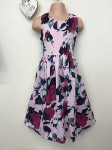 Girls floral print dress (5 - 10 years)