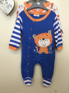 Pack of 2 Tiger Cub Sleepsuits  (0-9 months)